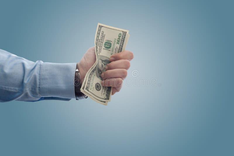δολάρια fistfull στοκ εικόνες με δικαίωμα ελεύθερης χρήσης