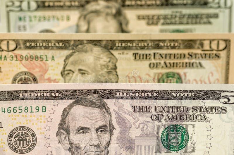 δολάριο λογαριασμών διάφορο στοκ εικόνα με δικαίωμα ελεύθερης χρήσης