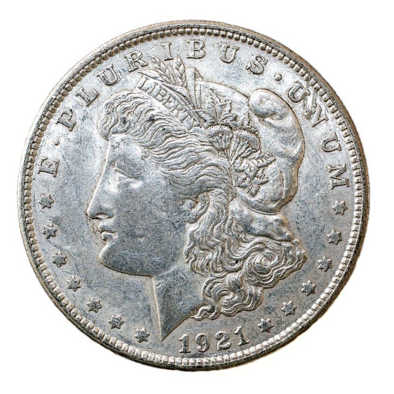 1921 δολάριο του Morgan στοκ εικόνες