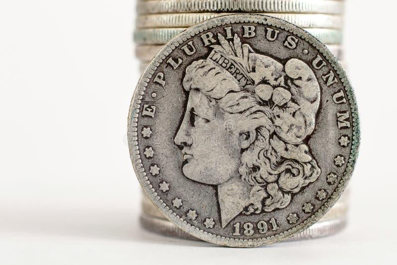 1891 δολάριο του Morgan στοκ εικόνες με δικαίωμα ελεύθερης χρήσης