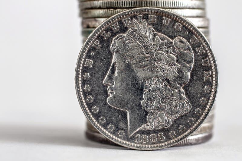 1883 δολάριο του Morgan στοκ φωτογραφία με δικαίωμα ελεύθερης χρήσης