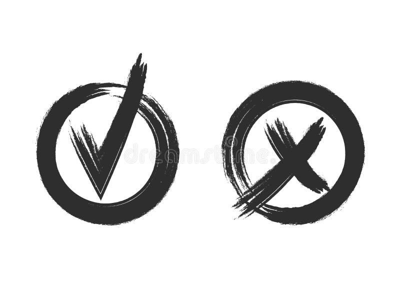 Ο έλεγχος και το διαγώνιο ΔΙΑΝΥΣΜΑ grunge ορίζουν τα σημάδια που απομονώνονται στο άσπρο υπόβαθρο: γραφικά εικονίδια, μαύρα σύμβο απεικόνιση αποθεμάτων