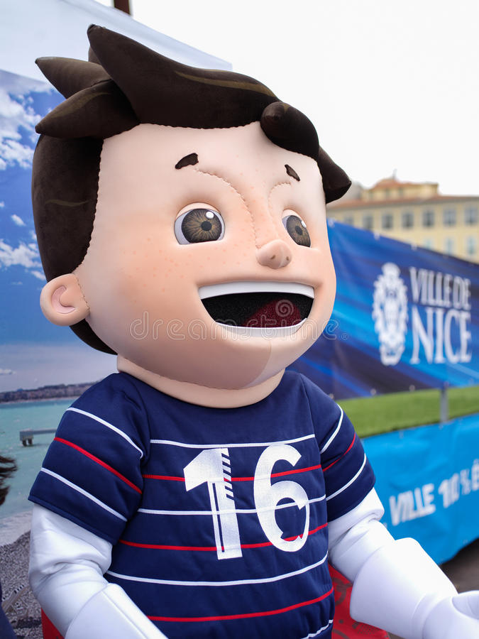 Ο έξοχος Victor, mascotte ανώτερος υπάλληλος της Γαλλίας 2016 στοκ φωτογραφίες με δικαίωμα ελεύθερης χρήσης