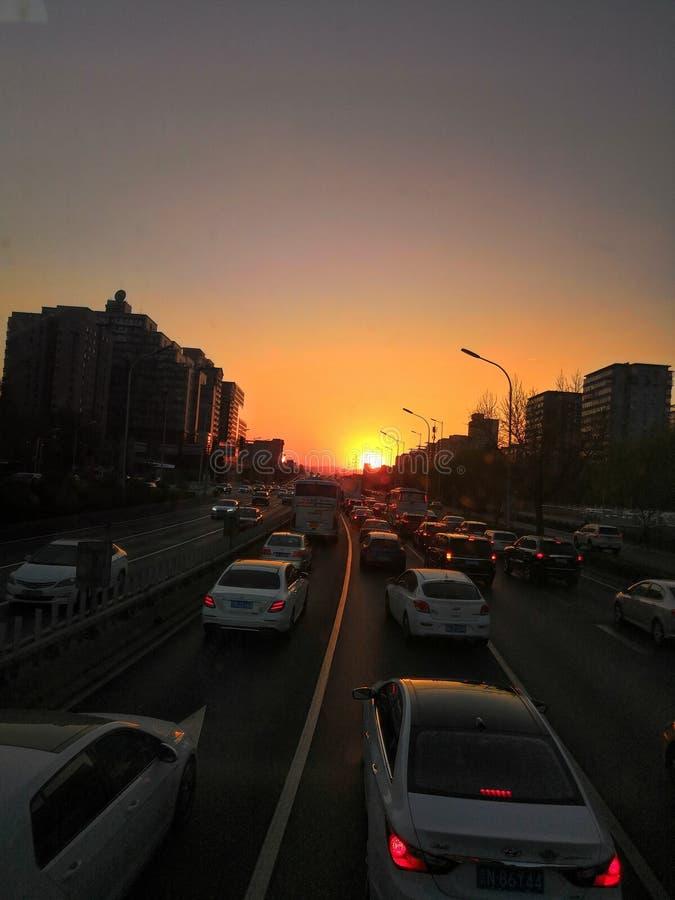ο ήλιος σε αργά το απόγευμα στοκ εικόνες με δικαίωμα ελεύθερης χρήσης
