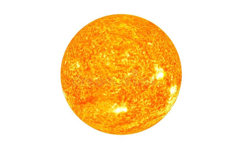 Ο ήλιος Το κύριο αστέρι του ηλιακού συστήματος που απομονώνεται στοκ εικόνες