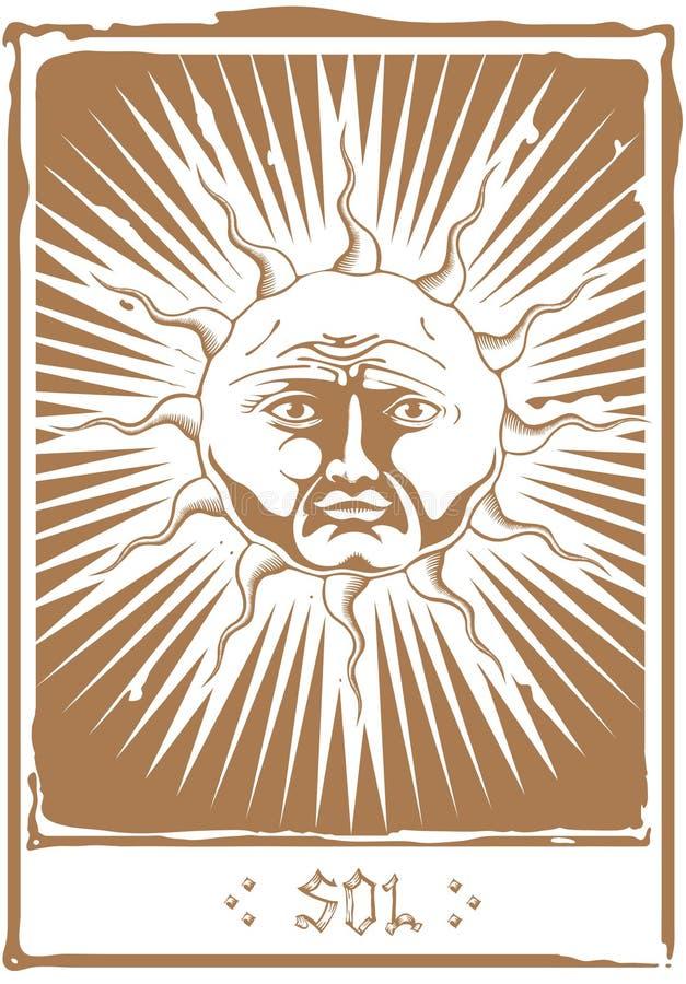 Ο ήλιος Tarot απεικόνιση αποθεμάτων