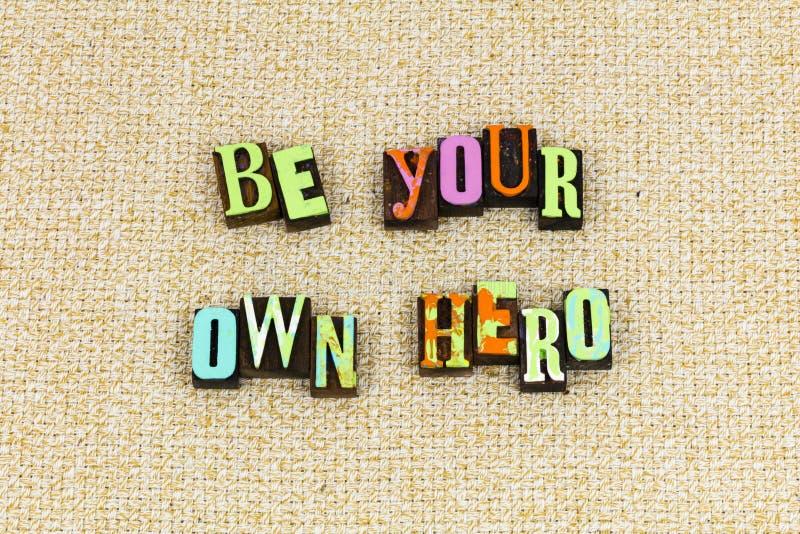 Ο ήρωας σας ονειρεύεται το θάρρος στοκ φωτογραφίες με δικαίωμα ελεύθερης χρήσης