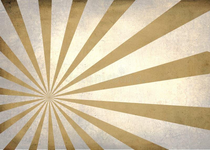 Ο ήλιος εξερράγη το απλό κατασκευασμένο αναδρομικό υπόβαθρο διανυσματική απεικόνιση