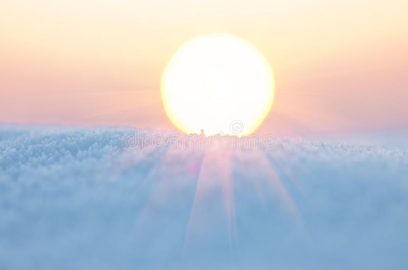 Ο ήλιος το χειμώνα στοκ φωτογραφίες