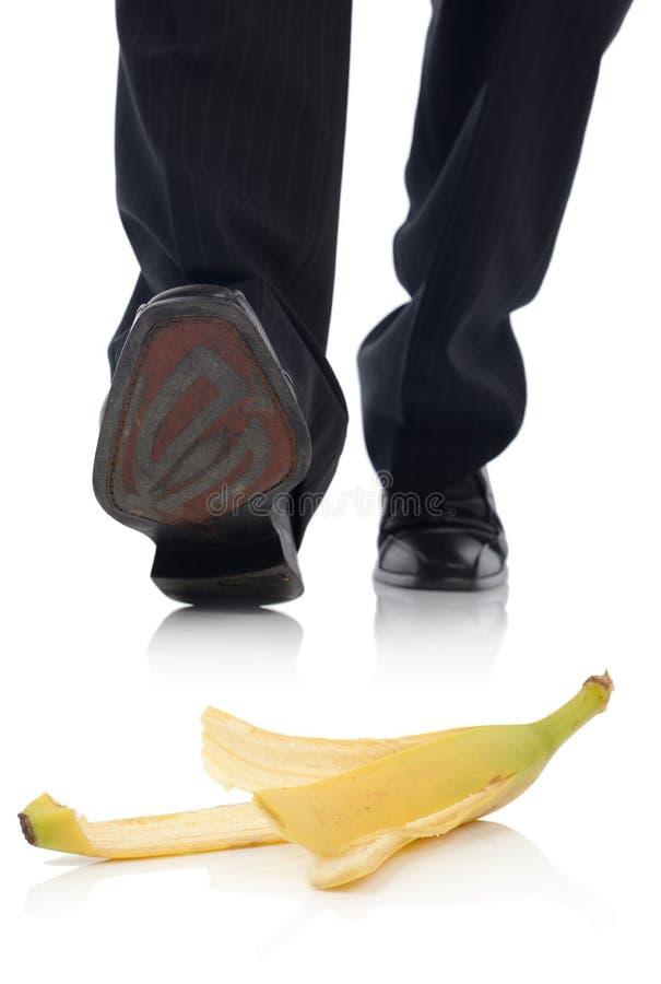 Ολίσθηση μπανανών στοκ φωτογραφία με δικαίωμα ελεύθερης χρήσης