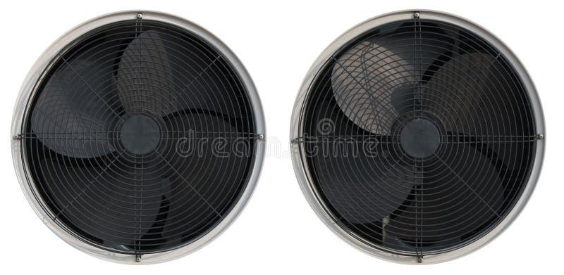 Ο αέρας ανεμιστήρων δροσίζει την ηλεκτρική θερμότητα, άνεμοι, πιό δροσερά, κρύα προωθητήρια που φυσούν τη θερμοκρασία εξαεριστήρω στοκ φωτογραφία