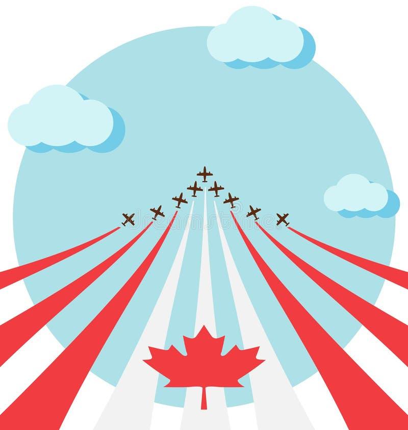 Ο αέρας παρουσιάζει για τη εθνική μέρα του Καναδά ελεύθερη απεικόνιση δικαιώματος