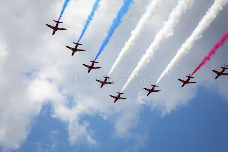 Ο αέρας παρουσιάζει στο Λονδίνο στοκ εικόνα