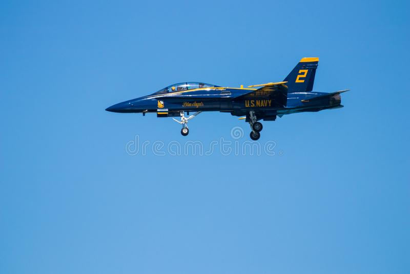 Ο αέρας της νότιας Καρολίνας Myrtle Beach παρουσιάζει με τους μπλε αγγέλους στοκ εικόνα με δικαίωμα ελεύθερης χρήσης