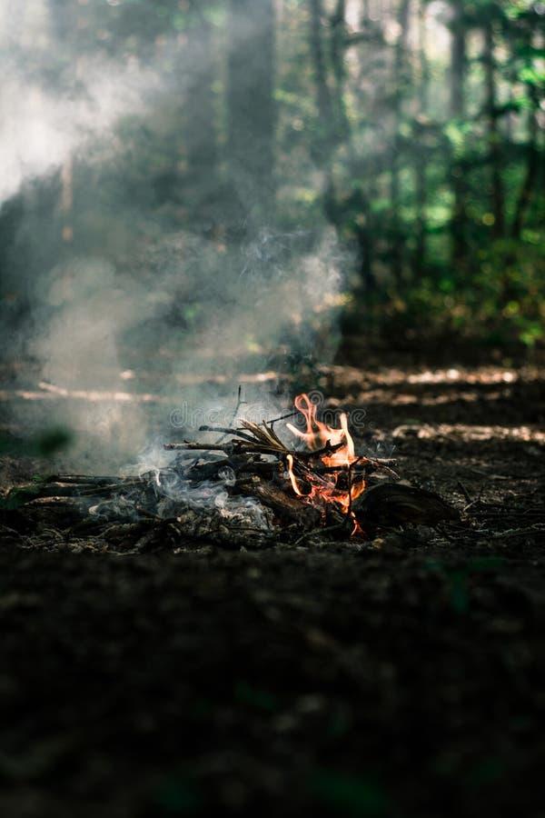 Ο αέρας φυσά στους άνθρακες στοκ εικόνα