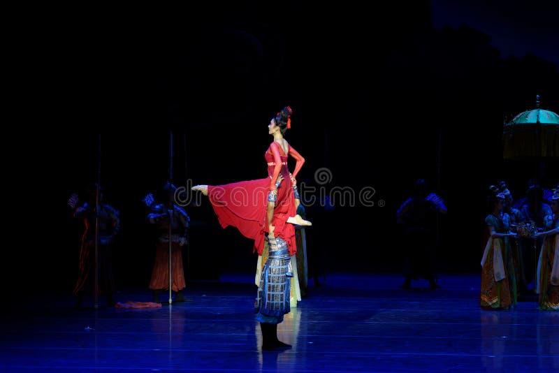 Ο αδελφός και η αδελφή ` s η συναίσθημα-τέσσερα πράξη ` εμπόδισαν τον εκτελωνισμό ` - επική πριγκήπισσα ` μεταξιού δράματος ` χορ στοκ φωτογραφία