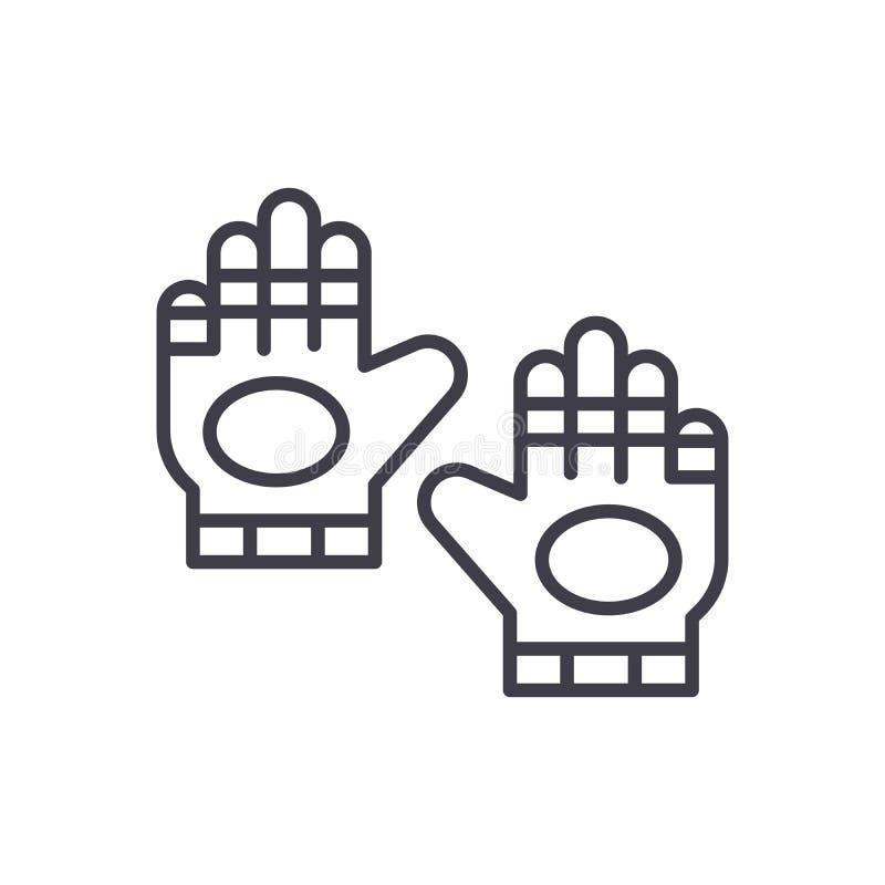 Ο αθλητισμός φορά γάντια στη μαύρη έννοια εικονιδίων Ο αθλητισμός φορά γάντια στο επίπεδο διανυσματικό σύμβολο, σημάδι, απεικόνισ ελεύθερη απεικόνιση δικαιώματος