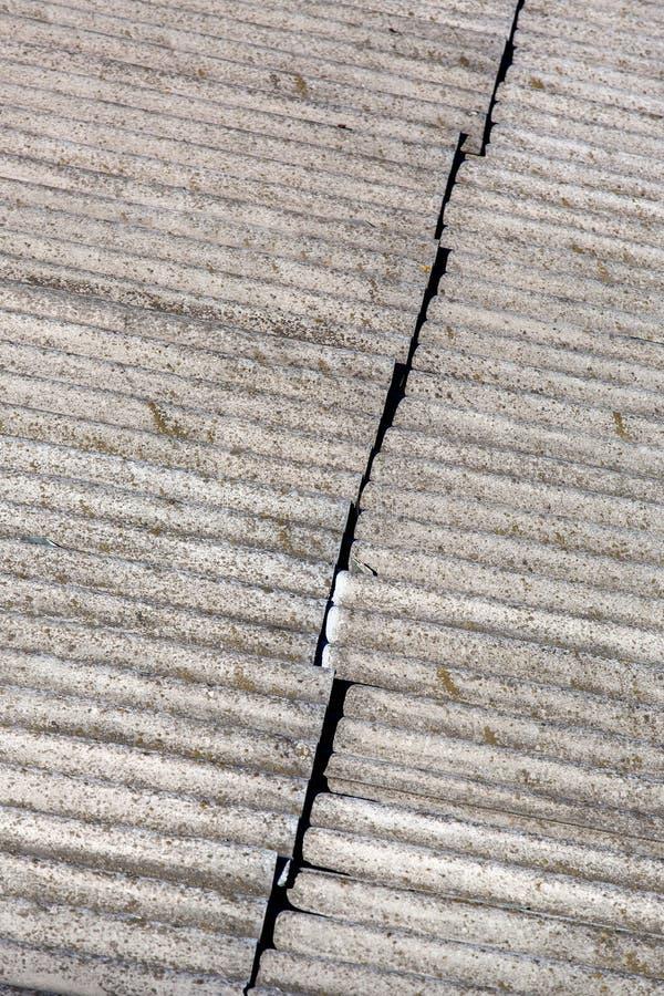 Ο αισθητός υλικό κατασκευής σκεπής αμίαντος στοκ εικόνες
