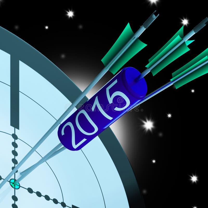 2015 ο ακριβής στόχος βελών παρουσιάζει επιτυχές μέλλον διανυσματική απεικόνιση