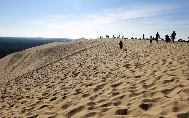 Ο αμμόλοφος Pilat στη Γαλλία στοκ εικόνα με δικαίωμα ελεύθερης χρήσης