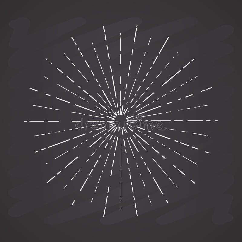 Ο αναδρομικός ήλιος εκρήγνυται, εκλεκτής ποιότητας ακτινοβόλος μορφή ακτίνων ήλιων για το λογότυπο, ετικέτες ή εμβλήματα και πρότ απεικόνιση αποθεμάτων