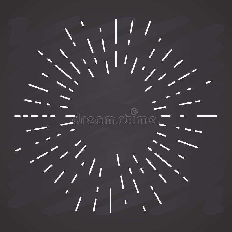Ο αναδρομικός ήλιος εκρήγνυται, εκλεκτής ποιότητας ακτινοβόλος μορφή ακτίνων ήλιων για το λογότυπο, ετικέτες ή εμβλήματα και διάν διανυσματική απεικόνιση