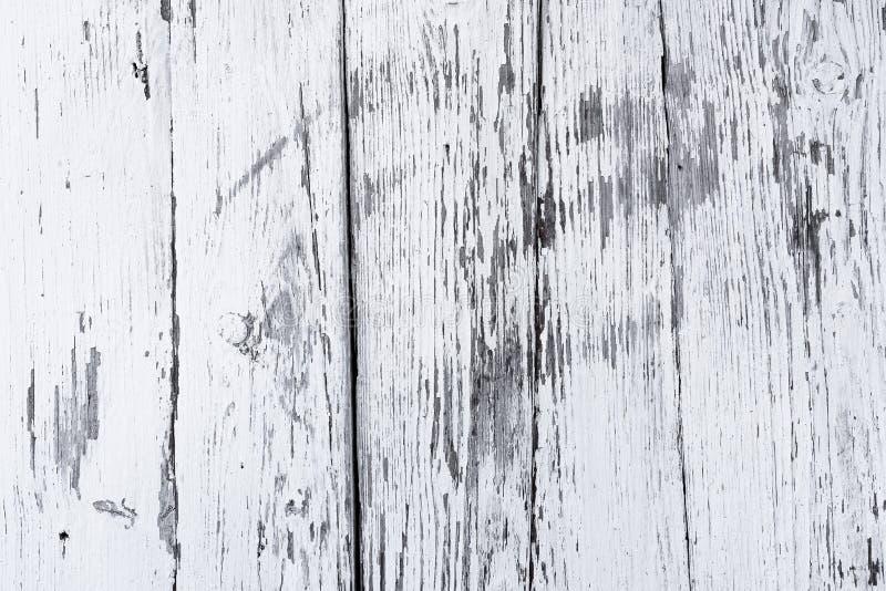 Ο αναδρομικός ξύλινος τοίχος ασπρίζει τον ασβέστη, σύγχρονο ύφος, ξεπερασμένο με ρωγμές ακατάστατο ξύλινο σκηνικό, εκλεκτής ποιότ στοκ εικόνες με δικαίωμα ελεύθερης χρήσης