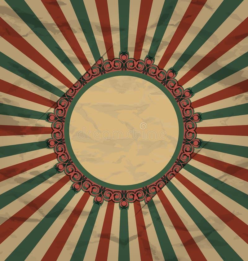 Ο αναδρομικός τρύγος grunge ονομάζει στην ανασκόπηση ακτίνων ήλιων απεικόνιση αποθεμάτων