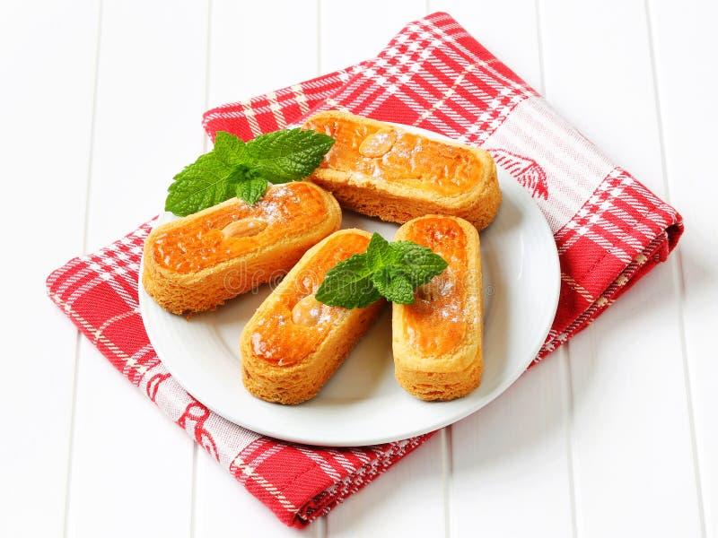 Ολλανδικά μπισκότα αμυγδάλων στοκ εικόνες με δικαίωμα ελεύθερης χρήσης