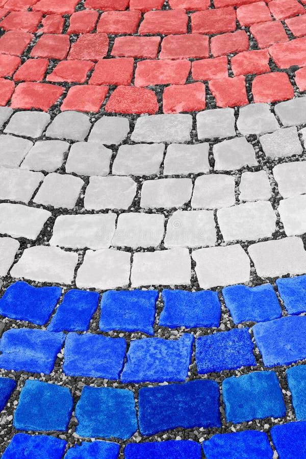 Ολλανδική οδός υποβάθρου σημαιών στοκ εικόνα