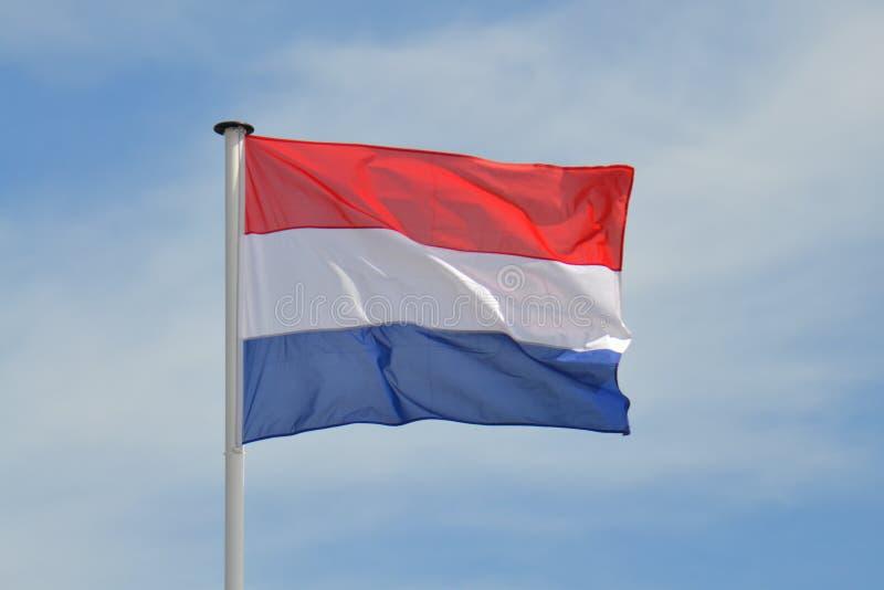 Ολλανδική σημαία Fying στοκ εικόνα με δικαίωμα ελεύθερης χρήσης