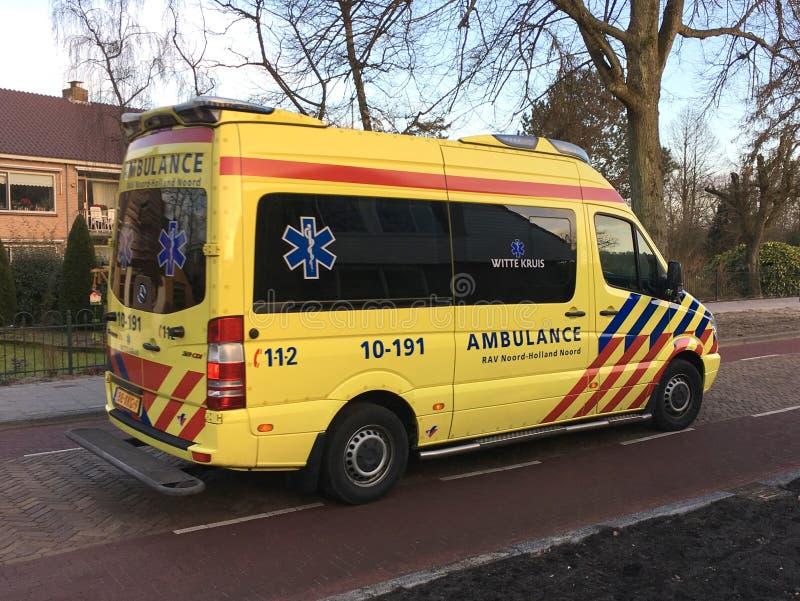 Ολλανδικό ασθενοφόρο στοκ φωτογραφίες με δικαίωμα ελεύθερης χρήσης