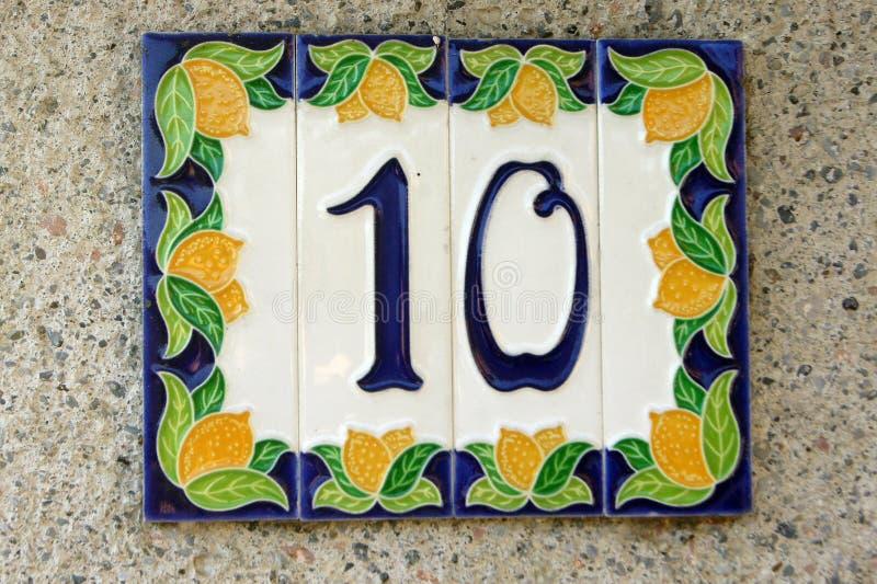 Ο αριθμός - δέκα στοκ εικόνες