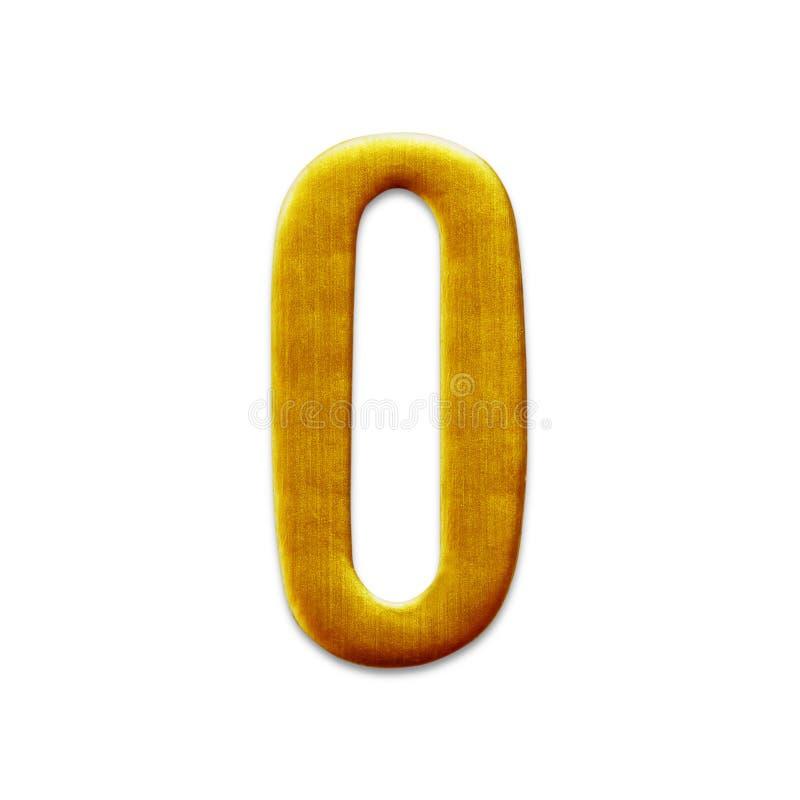 Ο αριθμός μηδενικά χρυσά Αραβικά που απομονώνονται στο άσπρο υπόβαθρο στοκ εικόνες