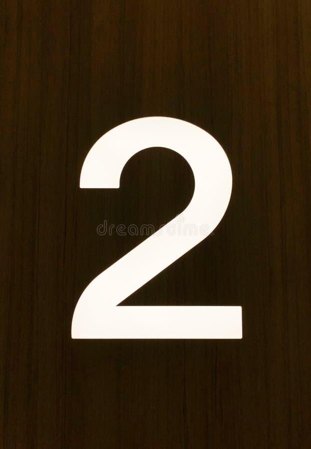 Ο αριθμός 2 στο μέτωπο του σπιτιού, κλείνει επάνω στοκ φωτογραφία με δικαίωμα ελεύθερης χρήσης