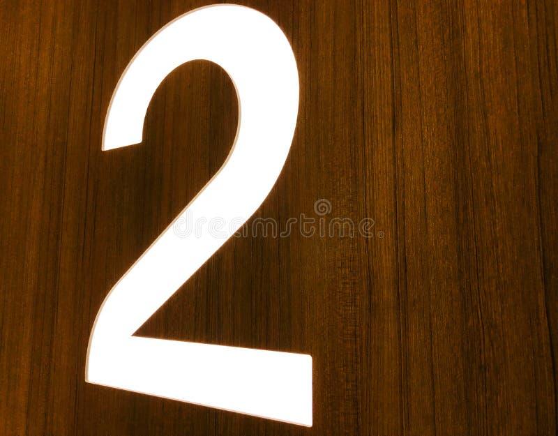 Ο αριθμός 2 στο μέτωπο του σπιτιού, κλείνει επάνω στοκ εικόνα