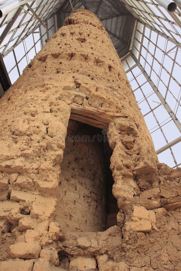 Ο αρχαίος μιναρές στο χωριό Ayni (Aini), Τατζικιστάν στοκ εικόνες