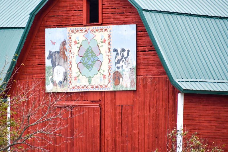 Ο αρχικός αχυρώνας Wisconsin του Rosemaling Design στοκ εικόνες με δικαίωμα ελεύθερης χρήσης