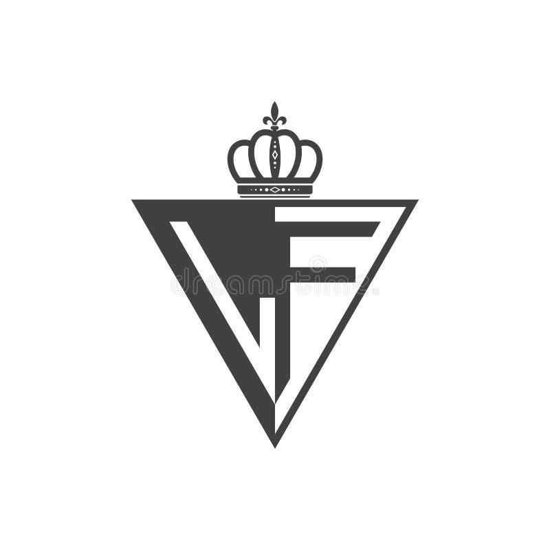 Ο αρχικός δύο επιστολών Μαύρος τριγώνων λογότυπων Λα μισός διανυσματική απεικόνιση