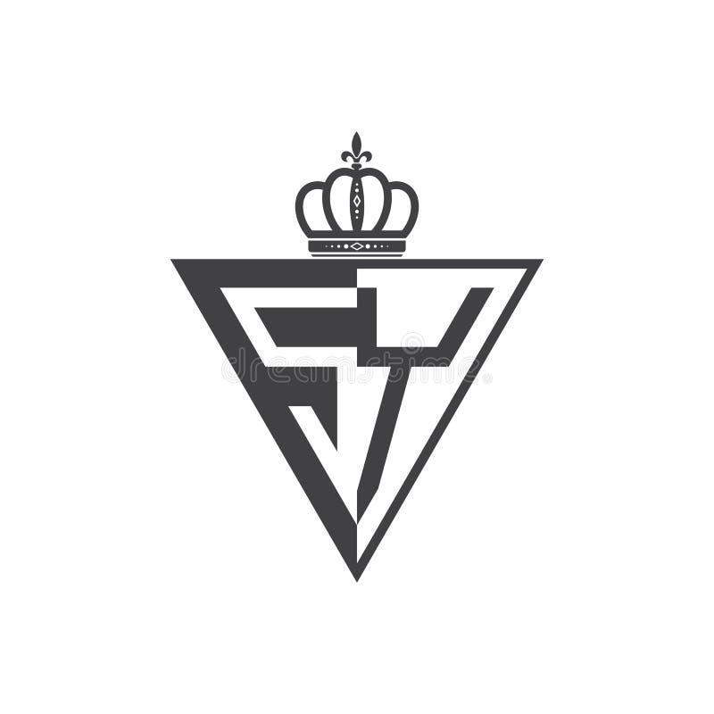 Ο αρχικός Μαύρος τριγώνων λογότυπων δύο γραμμάτων SY μισός ελεύθερη απεικόνιση δικαιώματος