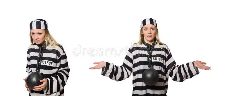 Ο αστείος τρόφιμος φυλακών στην έννοια στοκ φωτογραφία