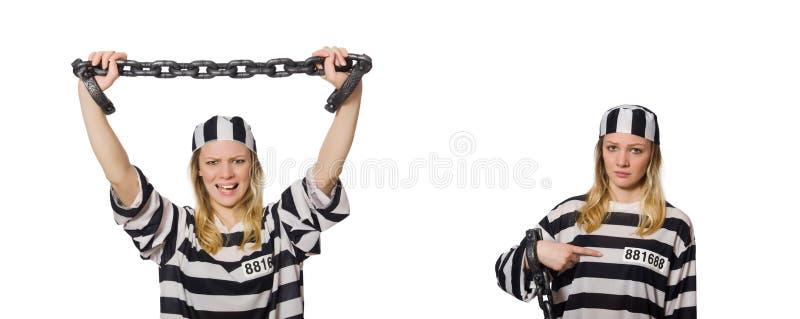 Ο αστείος τρόφιμος φυλακών στην έννοια στοκ φωτογραφίες