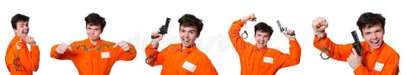 Ο αστείος τρόφιμος φυλακών στην έννοια στοκ εικόνα με δικαίωμα ελεύθερης χρήσης