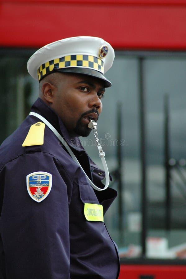 Ο αστυνομικός στο δρόμο στοκ φωτογραφίες