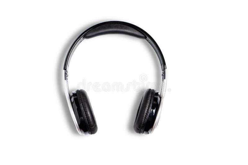 Ο ασύρματος μαύρος ήχος ακουστικών για ακούει απομονωμένος στο λευκό στοκ φωτογραφία με δικαίωμα ελεύθερης χρήσης