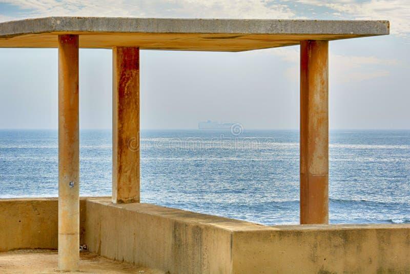 Ο Ατλαντικός Ωκεανός Foz κάνει Douro, Πόρτο στοκ φωτογραφίες με δικαίωμα ελεύθερης χρήσης