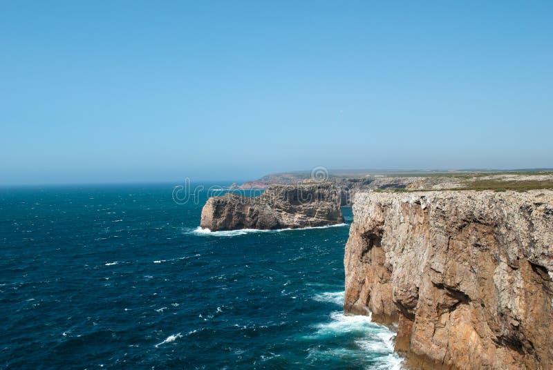 Ο Ατλαντικός Ωκεανός στην πορτογαλική ακτή στοκ φωτογραφίες με δικαίωμα ελεύθερης χρήσης