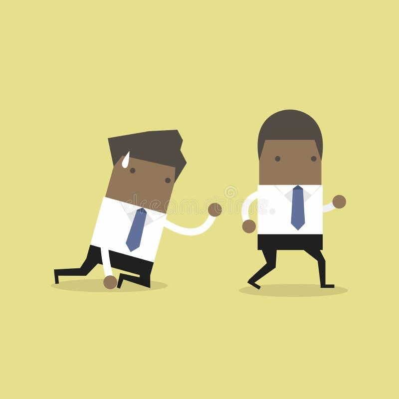 Ο αφρικανικός επιχειρηματίας εγκαταλείπει το σύρσιμο συναδέλφων στο πάτωμα και να απαιτήσει για τη βοήθεια απεικόνιση αποθεμάτων