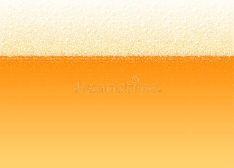 Ο αφρός μπύρας βράζει ελαφρύ πικρό ποτό ξανθού γερμανικού ζύού υποβάθρου ρεαλιστικό απεικόνιση αποθεμάτων