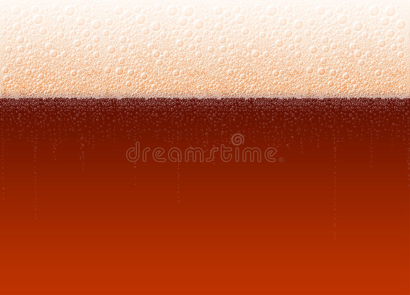 Ο αφρός μπύρας βράζει ρεαλιστικό σκοτεινό ποτό αχθοφόρων δυνατής μπύρας υποβάθρου απεικόνιση αποθεμάτων